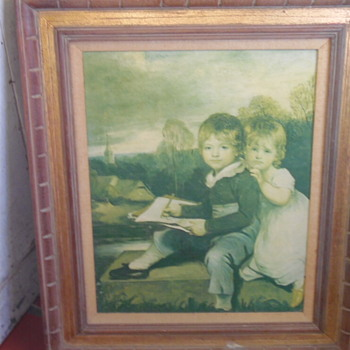 Old Master Type Painting Children Outside - Fine Art