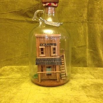 Bottle Whimsey - Folk Art