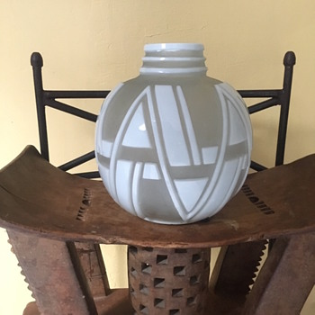 Art Deco vase, come lamp base. Unknown maker. - Art Deco