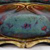 Late 1890s Dalpayrat (Colonna) Sang de Boeuf Stoneware Double Inkwell