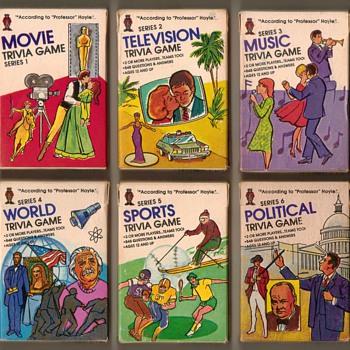 """1984 - Hoyle """"Pocket Trivia"""" Cards"""