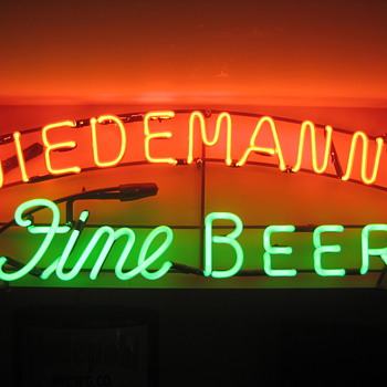 Nice Older Wiedemann Beer Neon