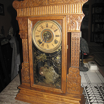 1910 Gilbert Kitchen/Mantle Clock, Model 3205 With Alarm. - Clocks