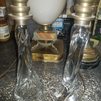 these were a gift from the people that I got the lamps just post French crystal  - Glassware