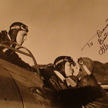 "Mrna Loy Signed Photo From ""Test Pilot"" With Clark Gable and Spencer Tracy"
