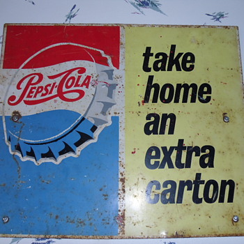 ~~Vintage Double Sided Pepsi Sign~~ - Signs