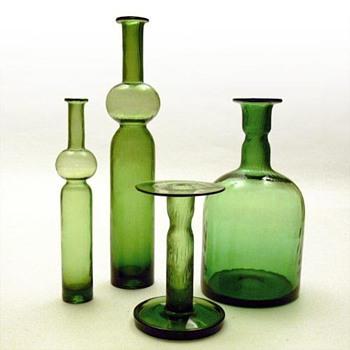 NEPTUNA set, Nanny still (Riihimäki Lasi, 1966) - Art Glass