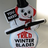 TRICO WINTER WIPER BLADES PLASTIC ADVERTISING SIGN 1970'S