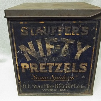 D. F. Stauffer Biscuit Co. NIF=TY Pretzels Box - Advertising