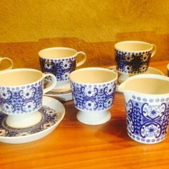 ARABIA finland ali coffee cups and creamer