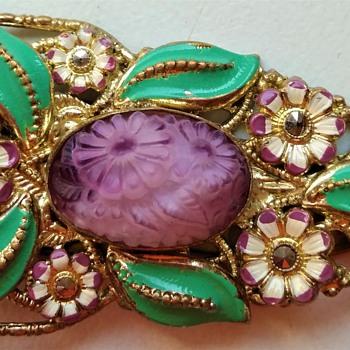 1920s/1930s Czech dress clip - Costume Jewelry