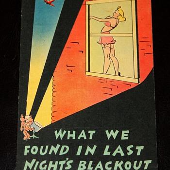 Saucy WWII Postcards