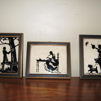 Old framed silhouttes - Posters and Prints