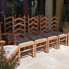 Antique oak ladderback dining chairs