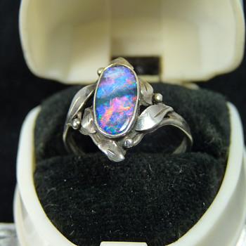 School of Rhoda Wager - Silver & Opal Ring - Fine Jewelry