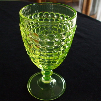 Richards and Hartley or Adams & Co. or later U.S. Glass VASELINE GOBLET - Glassware