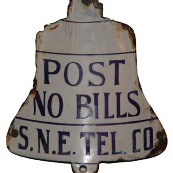 Post No Bills S.N.E. Tel Co. - Telephones