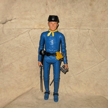 Johnny West Adventures JWA Royal Blue Captain Maddox Figure 1975-1977 - Toys