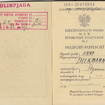 Paszport na Igrzyska Olimpijskie 1936 - Paper