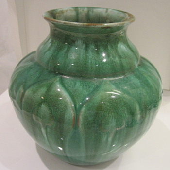 Royal Lancastrian pottery, both bought at flea markets. - Pottery