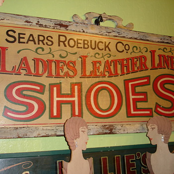 Vintage Sears Roebuck and Company Shoes Sign - Signs