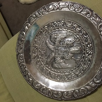 k and j silver tray - Silver