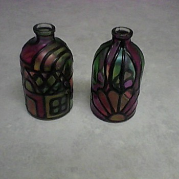 ENAMEL DESIGN BOTTLES - Art Glass