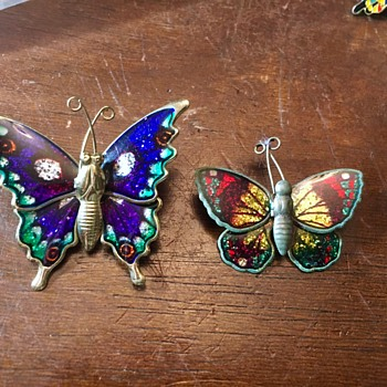 Metal butterfly pins - Animals