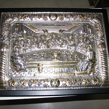 """The Last Supper"" reproduction.  Hand Made in .950 silver with Gold Gilding - Silver"