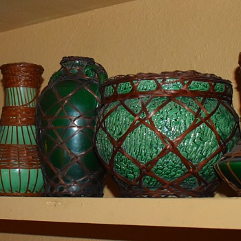 A few of my Awaji Wicker Ware Pieces - Pottery