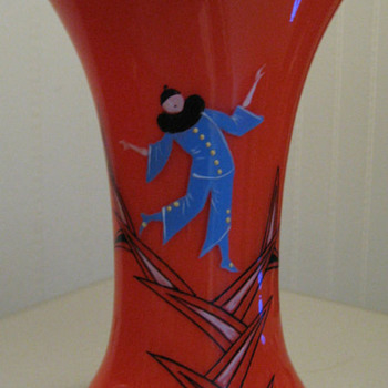 Cechoslovakia - Enamel decor #2 Clowns - Art Glass