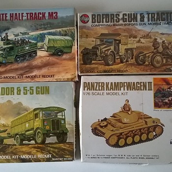 fortapache - Vintage Models, Complete, w/Instructions & Stickers - Military and Wartime