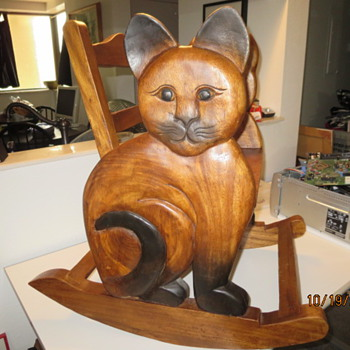 Carved cat rocking chair - Furniture