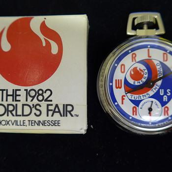 1982 World's Fair Pocket Watch By Westclox - Pocket Watches