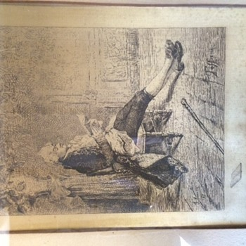 Antique drawings on silk?