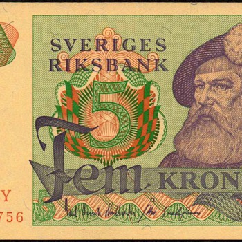 Sweden - (5) Kronur Bank Note
