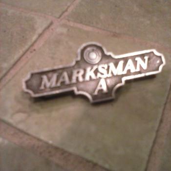 marksman A Pin - Medals Pins and Badges