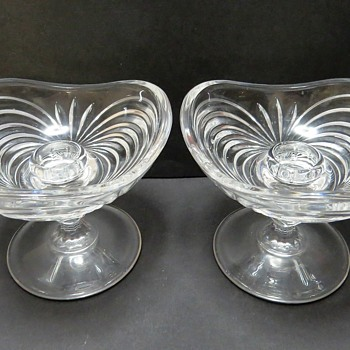 Glass Footed Candle Holders - Glassware