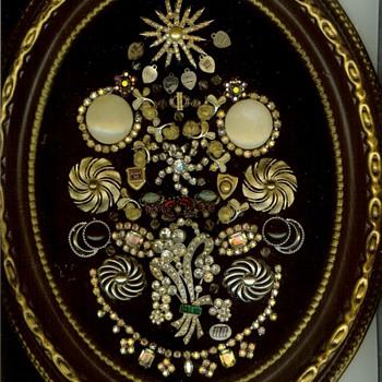 2 - Vintage Jewelry Tree Art Picture - Costume Jewelry