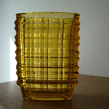 Polish pressed glass vase 1960s - Glassware