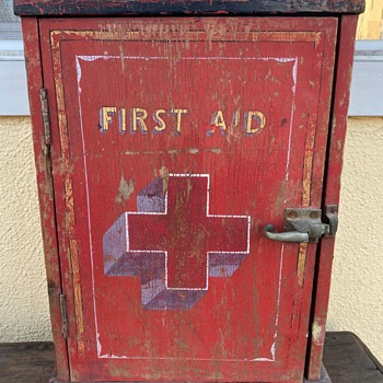 First Aid Cabinet - early 20th century! - Furniture