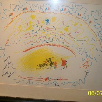 Lithograph pencil signed Piccaso