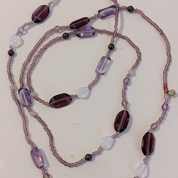 glass necklace from Serbia - Costume Jewelry