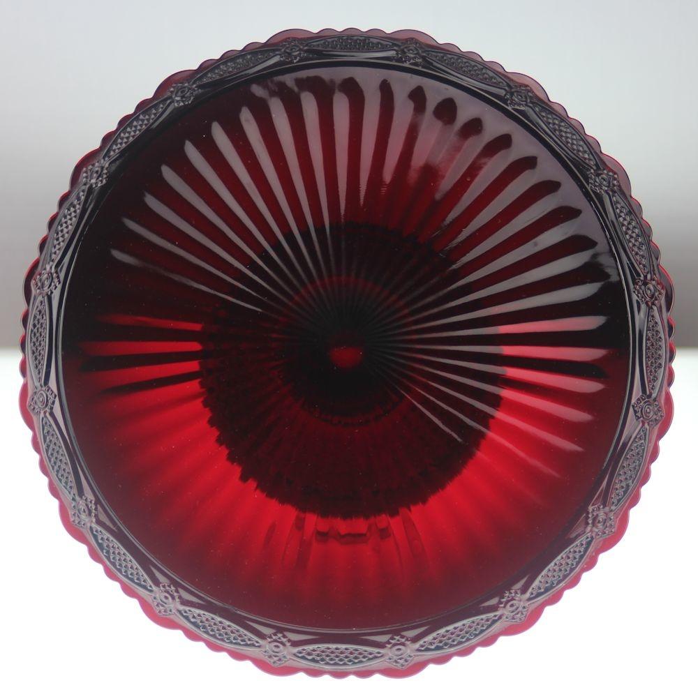 Ruby Red Avon Cape Cod Cake Stand Fostoria