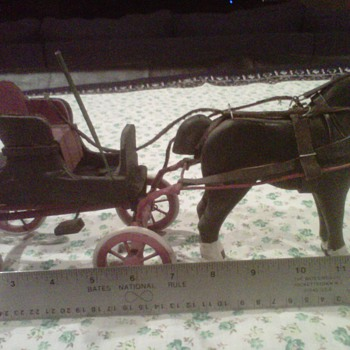 Horse and Buggy from Grandparents House - Folk Art