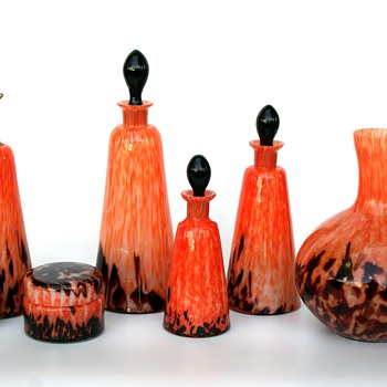 WELZ Stripes & Spots Toiletry Set - Art Glass