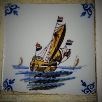 Delf Tiles Frame, Early 20 century - Pottery