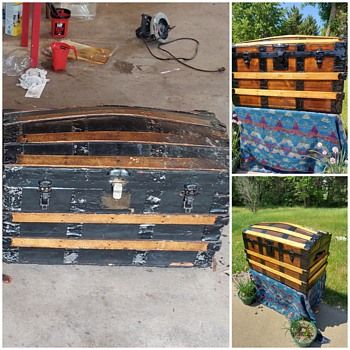 Can you identify this Antique Steamer Trunk? - Furniture