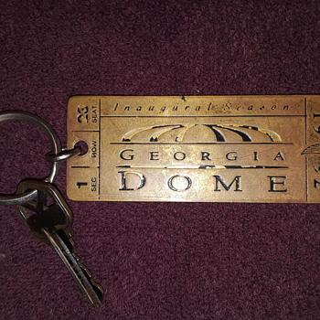 GEORGIA DOME souvenir keychain - Advertising