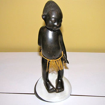 Rare Anzengruber terracotta art deco style African boy - Pottery